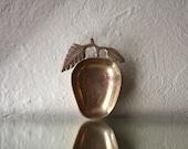 Vintage Brass Apple or Fruit Dish