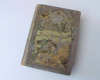 """Darling Little Victorian Book: """"For-Get-Me-Not""""-A Year of Daily Bible Quotations"""