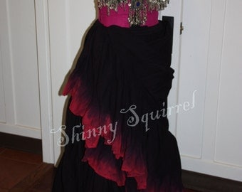 Belly dance skirt-Stepped in blood-25 or 15 yard- renaissance,tribal,halloween, fusion,ATS,SCA