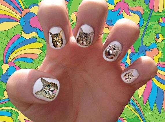 Lil Bub Nail Decals Transfer Nail Stickers