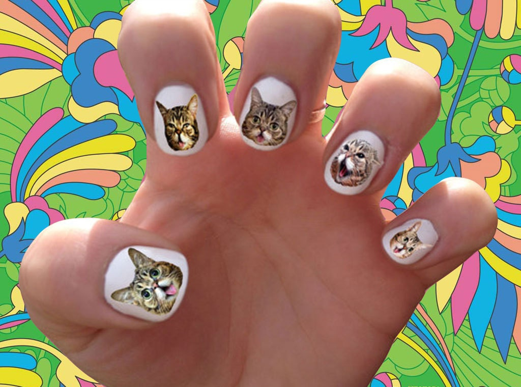 Today Live Sports: Lil Bub Nail Decals Transfer Nail Stickers