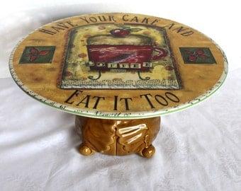 Cake Stand Ceramic Cupcake Holder Serving Plate Pedestal Buffet Service