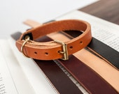 Leather Cat Collar in Honey
