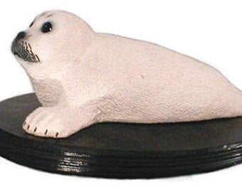Baby Harp Seal Pup sculpture 12 X 4 in.