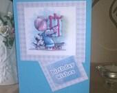 Boys Birthday Wishes 3D Card, Happy Birthday  Hand Made Card