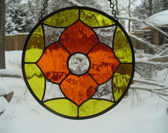 Geometric sunburst suncatcher