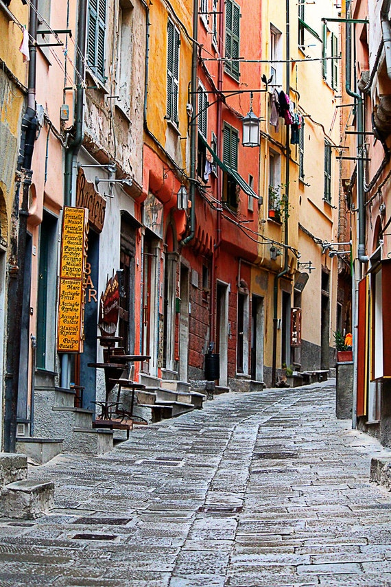 Streets of Italy Note Cards Italian Street Card Flat Note Cards Travel Note Cards Blank Cards 4x6 Note Cards fPOE