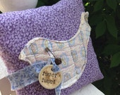 Prim bird pillow tuck~ Vintage Quilt~ Tweet Tweet~ Lilac~ purple~ floral- Christmas present~ birthday present