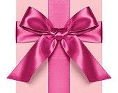 "Fuschia Pink 1/4"" Satin Ribbon Paper Source 10 Yard Roll Destash Sale"