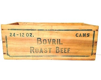 Rustic Wooden Storage Roast Beef Box, , Wooden Box From NYC, Storage Container For Incidentals, Rustic Wooden Country Box