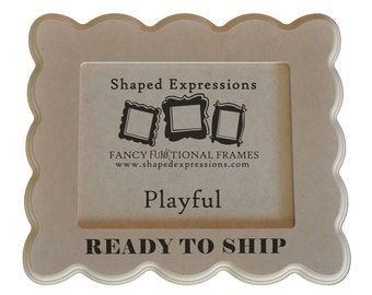 READY TO SHIP - 4x6 Playful unfinished picture frame