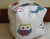 Fabric doorstop handmade Owl doorstop home decor doorstopper