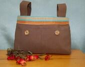 Brown Walker Bag with str...