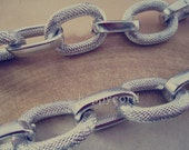 2m (6.5feet)21mmx28mm silver color Big  Aluminum chains