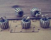 10pcs  Antique silver pumpkin charm pendant  10mmx14mm