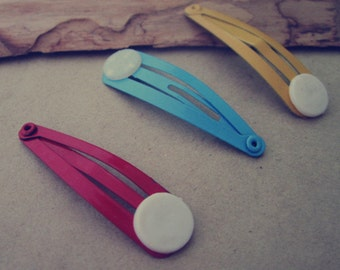 40pcsMixed color Metal Hairpin 11mmx39mm