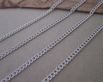 6.5ft  silver color necklace chain 2mmx3mm