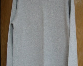 vintage grey long sleeved jersey by 'Banana Republic'  -  men's size M
