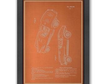 Automobile III Blue Print, 100% Original Design from Flatiron Design