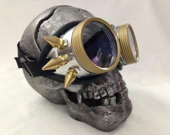 Burner goggles - Metal punk stinger spikes clear lens