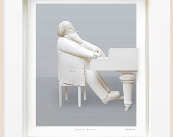 Johannes Brahms Original Paper Sculpture by Reinhard