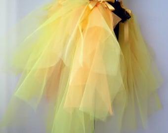 Mardi Gras Yellow Gold Orange  Burlesque  Bustle Belt size US. and Uk. XS,S ,M ,L,XL