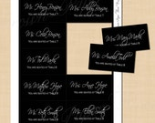 Classic Black Text-Editable Escort Cards; 3.5 x 2: Fits Avery 8371 Template - Instant Download