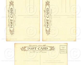 Printable Vintage Blank Postcards JPG file to download instantly by Jodie Lee