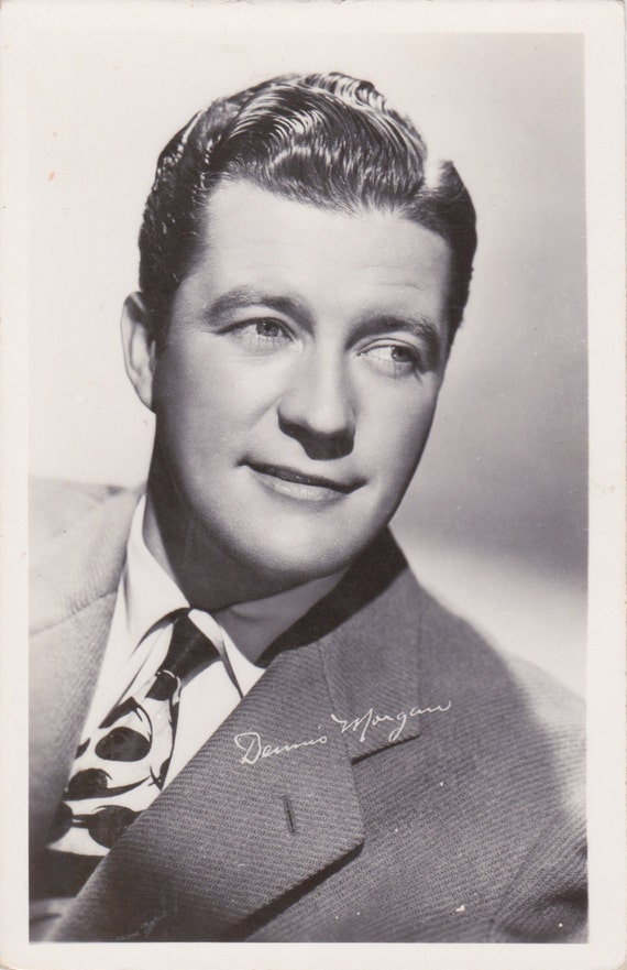 Items Similar To Vintage Postcard Of Actor Dennis Morgan