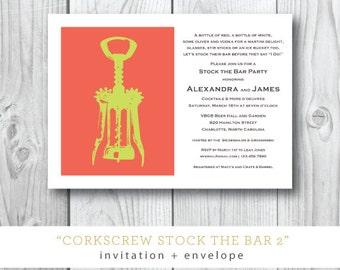 Stock the Bar Corkscrew Invitations