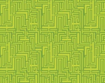 Meander Green (118.101.05.1) - Modern Eclectic Collection by Khristian Howell - Blend Fabrics - 1 yard