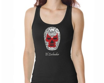 Women's Tank Top - Mexican Wrestling Mask - Created using different Mexican wrestling moves