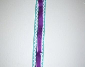 Purple and Teal Chevron Ribbon Headband Holder