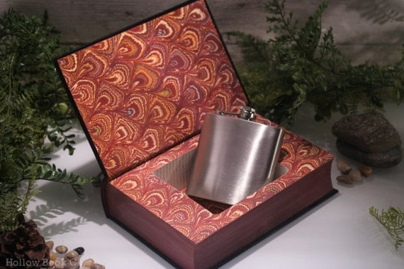 Hollow Book Safe & Hip Flask - Jane Eyre (LEATHER-BOUND) – Classic Book – Hollowed Out Book