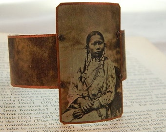 Native American Jewelry Spotted Fawn bracelet mixed media jewelry