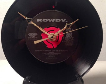 "Recycled MONICA 7"" Record / Song: Don't Take It Personal / Record Clock"