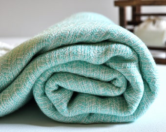 Turkish Towel Bamboo Peshtemal Towel Sprinkled Peshtemal Mint Pure Soft