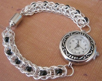 Wristwatch Chainmaille Time Piece Knight Watch