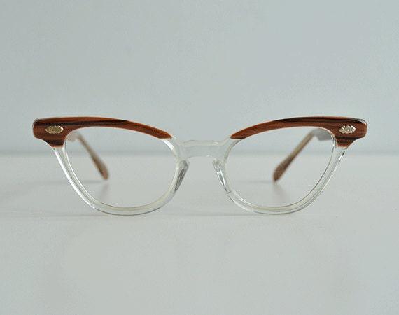 Vintage Eyeglass Frames New Old Stock : Vintage Horn Rim Eyeglasses / New Old Stock Wood by ...
