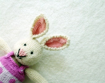 Easter Bunny - Waldorf Toy - Hand Knitted Toy - Stuffed Animal - Knit Rabbit - Hand Knit Soft Toy - Kids Toy - Knit Stuffed Animal - CAMILLE