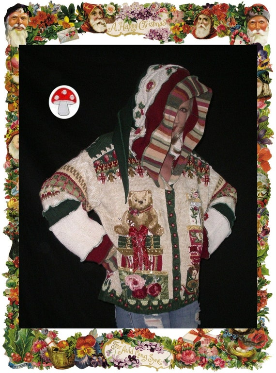 Beautiful Christmas Sweater Elf Hoodie Not Ugly by ...