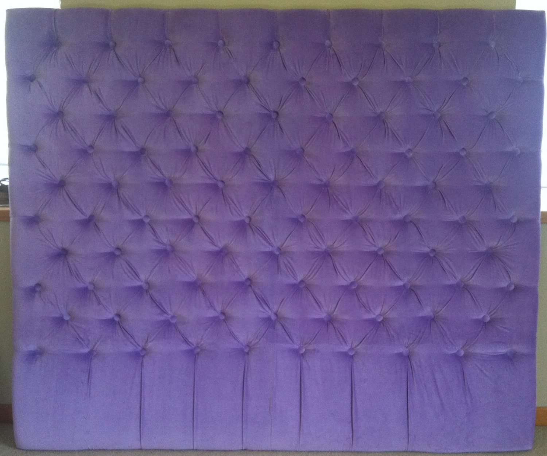 Light Purple Velvet Diamond Tufted Headboard King Extra
