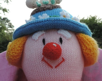 "HAND KNITTED "" Bertie Bloomer"" Character . (Ready to Ship) One Only."