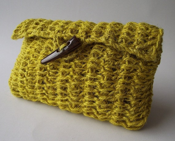 Crochet Clutch Bag Pattern : CROCHET BAG PATTERN crochet purse pattern crochet pouch pattern pdf ...
