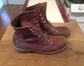 RED WING BOOTS 10.5 moc toe leather boots