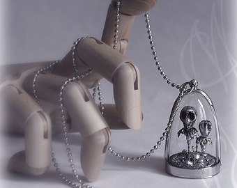 """Handcrafted and fine necklace with gothic touch - """"Fleurs du Mal"""" - Necklace 08"""