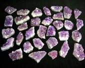 "1.5""-2.5"" Amethyst cluster chunk purple quartz crystal -Upick Quantity- natural gemstone rock stone mineral specimen SIZE SMALL"