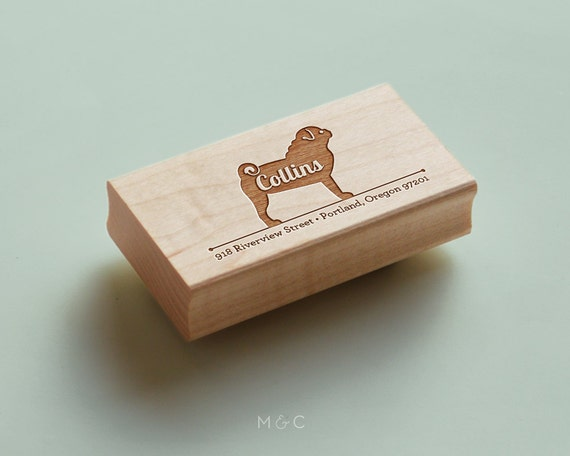 Pug - Personalized Address Stamp