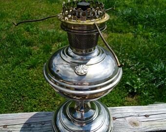 Aladdin model no 6 Chicago Ill Nickel plated 1914-1917 kerosene