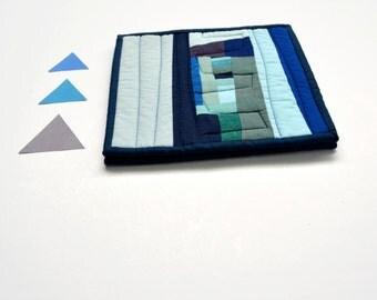 Blue Potholders, Pot Holders,  Modern, Hostess Gift (set of 2), Teal, Aqua, Blue, Abstract